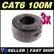 Black 100m Cat6 UTP Solid CCA Core Network Ethernet LAN Cable Roll AU Stock