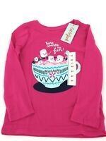 NWT Girls 4T Target Cat & Jack Long Sleeve T-shirt Pink Marshmallows