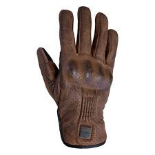 ARMR Moto Retoro Leather Retro Classic Style Motorcycle Motorbike Gloves - Brown