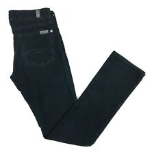 7 for all Mankind womens Jeans Black size 24 Skinny Straight Mid Rise Denim