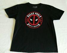 Marvel Comics Dead Pool Anti-Hero 1991 Men's T-Shirt Short Sleeve Black Size XL