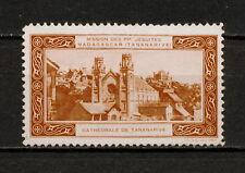 (YYAZ 798) Madagascar Cathedral of Tananarive Jesuit mission Vignettes Label