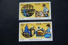 DDR, 1979, Fernsprech- u. Telegrammübermittlg (2 Marken postfr)