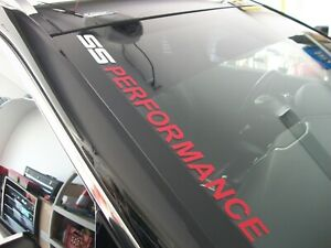 SS PERFORMANCE  (style 1)  Windshield Decal Chevrolet Camaro SS
