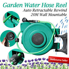 Bargain 20m Durable Retractable Auto Rewind Water Hose Reel Garden Wall Mount