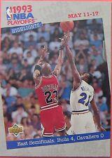 1993 MICHAEL JORDAN PLAYOFF HIGHLIGHTS UPPER DECK #187
