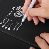4Pcs White Ink Color Photo Album Gel Pens Mark pen Stationary School Office Gift