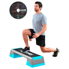 Reebok Step Trend Aerobic Stepper Steppbrett Fitness Grau/türkis 7 5 Kg DVD