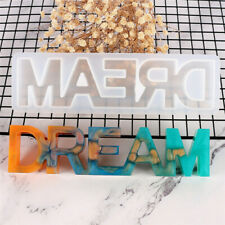DREAM DIY Sign Silicone Resin Casting Jewelry Making Mold Mould Epoxy Craft Tool