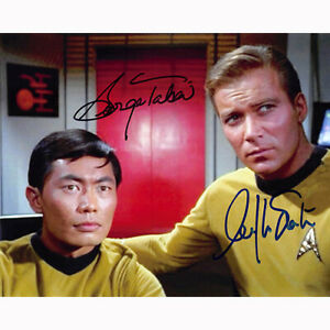 William Shatner & George Takei - Trek (74968) Autographed In Person 8x10 w/ COA