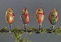 Christbaumschmuck - Glasornamente, 4 bunte Fische  (# 12783)