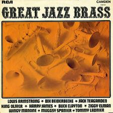 "Great Jazz Brass 1969 LP 12""33rpm UK rare reissue RCA Camden vinyl record (fair)"