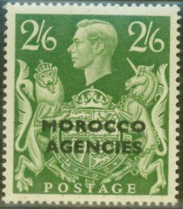 Morocco Agencies 1949 2s6d Yellow-Green SG92var Major Re-entry to Unicorn Fin