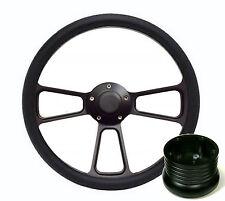 1968 1969 Dodge - Plymouth Black Billet Steering Wheel, Full Install Kit, Horn