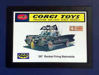Corgi Toys 267 Batman Batmobile Vintage 1966 A4 Size Framed Poster Shop Sign
