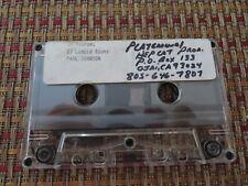 Paul Johnson Demo Studio Archive Cassette Read Description Carefully