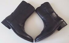 RALPH LAUREN COLLECTION ACKLEY BLACK VACHETTA COWBOY WESTERN BOOT SIZE 9D ITALY