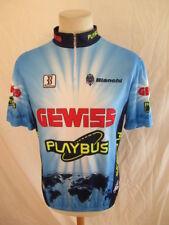 Maillot de ciclismo vintage GEWISS BIANCHI Azul talla XXL