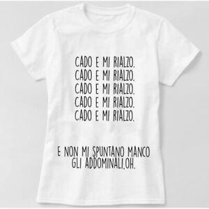 Candyshop T-shirt Maglietta scritta divertente cado addominali palestra pancia