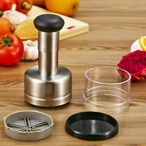 Kitchen Manual Hand Press Onion Vegetable Food Chopper Cutter Processor Dicer