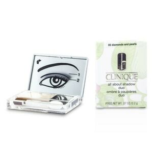 NEW Clinique All About Shadow Duo - # 05 Diamonds and Pearls 0.07oz Womens Make