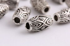 10 pcs Tibetan silver Spacer beads tube Bracelets necklaces Charms Findings 14mm