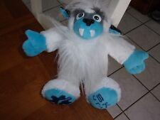 "lone rock ski utah plush 12""  soft white blue yeti monster snow logo advertising"