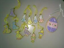 Set of 12 Colorful Sparkly Easter Resin Scf Ornaments