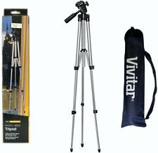 """50"""" Vivitar VIV-VPT-1250 Camera Video Tripod with Bubble Level and Carrying Case"""