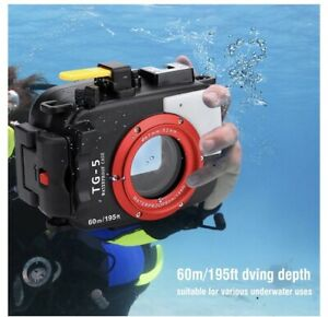 Sea Frog 60m/195ft Underwater Camera Housing Case For Olympus w/ Red Filter