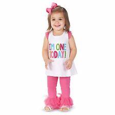Mud Pie Baby Girls' First Birthday 2-Piece Set Size:12-18 Months