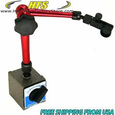 """Magnetic Base Adjustable Metal Test Indicator Holder Digital Level Stand 14"""" -L"""