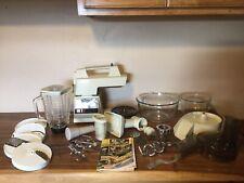 Vntg Oster Regency 12 Speed Kitchen Center Mixer Blender Grinder Slicer Dough