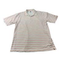 Nike Polo Shirt Adult Large White Orange Golfing Golfer Golf Dri Fit Mens Rugby