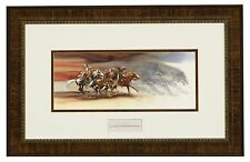 BEV DOOLITTLE WSS  Wolves of the Crow Matted & Framed with artist signature card
