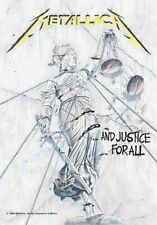 Metallica Poster and Justice for All Official Textile 75cm X 110cm