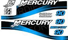 Bleu mercury 90 hors bord quatre temps moteur autocollants autocollant kit moteur