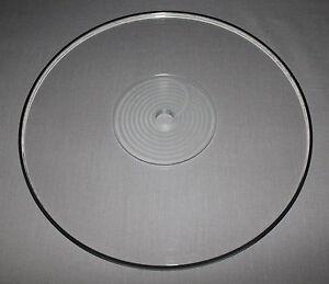 SRM TECH 10mm ACRYLIC PLATTER FOR REGA TURNTABLES - Inc. Platter Damping Ring !!