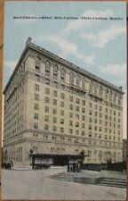 1910 Postcard: Hotel Ritz-Carlton, Montreal, Quebec QC