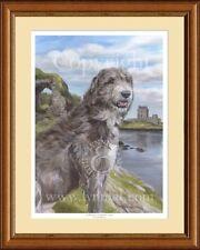 IRISH WOLFHOUND at castle limited edition dog art print