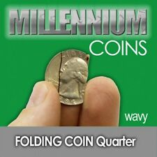 FOLDING US QUARTER Coin in Bottle Magic Tricks WAVY CUT Close Up Real .25 Toy
