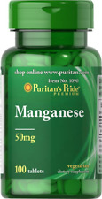 Manganese 50 mg  100 Tablets - Puritan's Pride - FREE POSTAGE