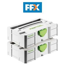 Festool Sys-Mini TL2 Mini Systainer T-Loc Almacenaje Fundas Pack de 2