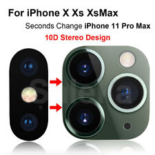 Fake Camera Sticker for iPhone X XS MAX Seconds Change to iPhone 11 Pro Max
