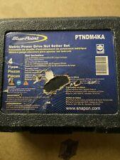 """Blue Point PTNDM4KA 4 pc ¼"""" Drive Magnetic Metric Power Drive Nut Setter Set"""