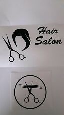 10 x Hairdresser salon beauty Barber window stickers scissors wig hair