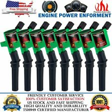 8 Green Ignition Coil For Ford 2000 2001 2002 2003 2004 F150 Expedition 4.6/5.4L