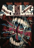 ASKING ALEXANDRIA MUSIC BAND T-SHIRT  BLACK SHORT  SLEEVE  UNISEX T-SHIRT