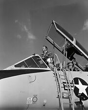 NASA Astronaut Alan Shepard in cockpit of Convair F-106 Delta Dart Photo Print