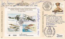 JSF2c 75th Anniv formation Royal Flying Corps Naval Wing Signed P M Brothers B o